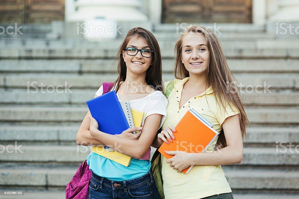 School girls stock photo