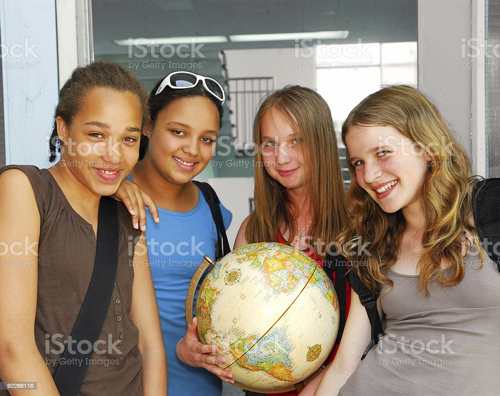 School girls royalty-free stock photo
