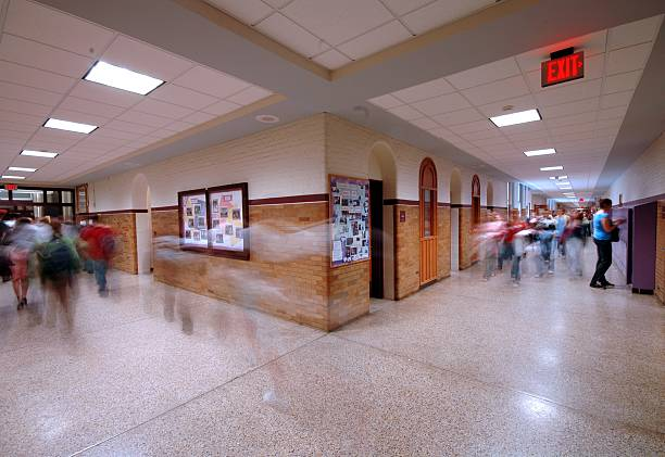 学校の廊下 4 ストックフォト