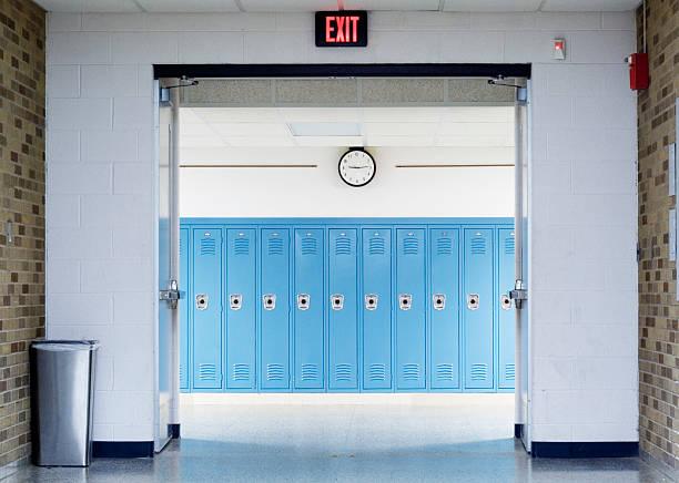 学校の廊下 ストックフォト