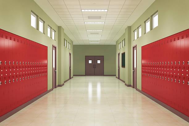 École le couloir - Photo