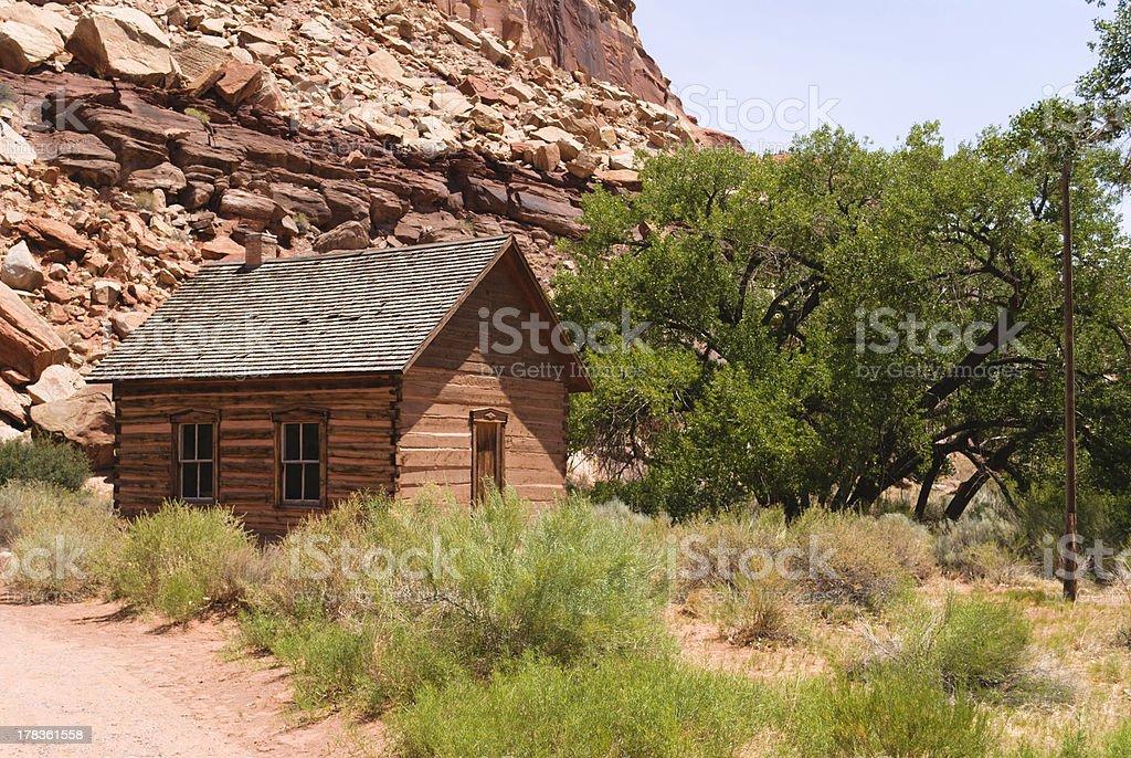 School House in Fuita Utah stock photo