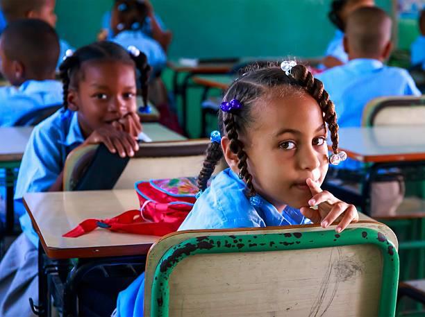 School in Dominican Republic stock photo