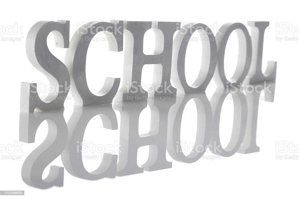 School In Standing Letters royalty-free stock photo
