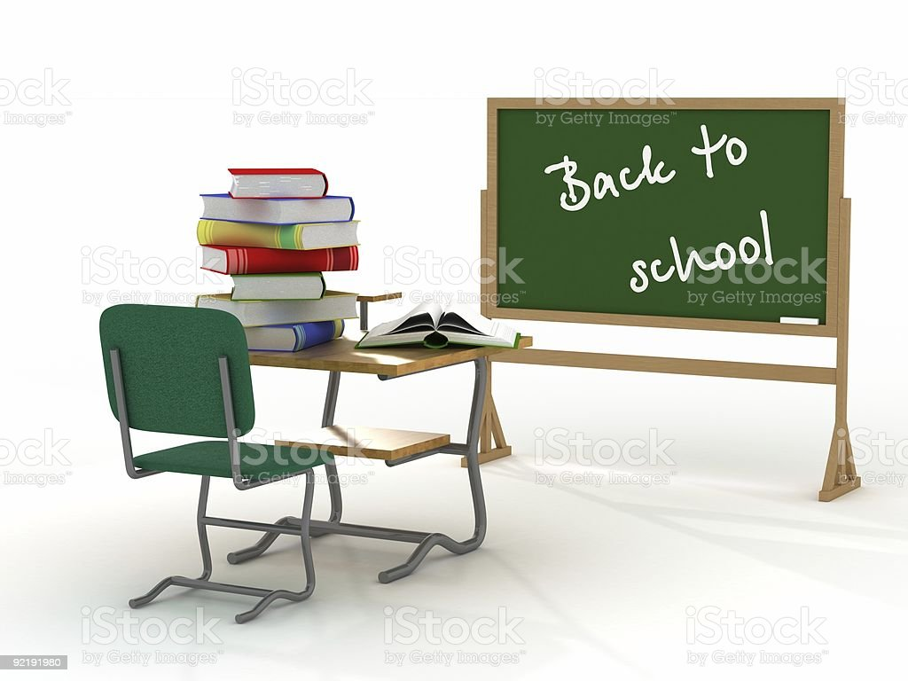 School interior. 3D image. royalty-free stock photo