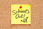 istock School Is Out Sticky Note 540965512