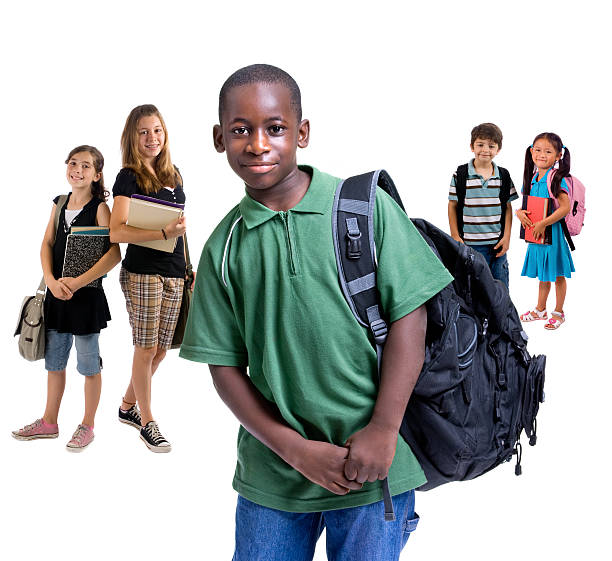 School Kids Diversity stock photo
