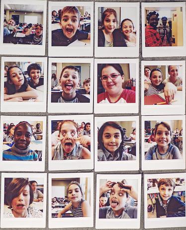 School kids instant portraits
