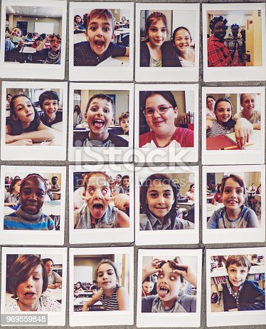 School kids instant portraits