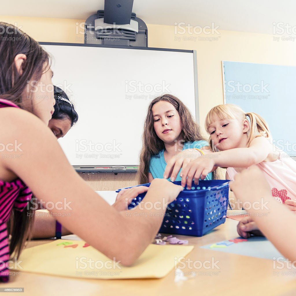 School Kids Teamwork royalty-free stock photo