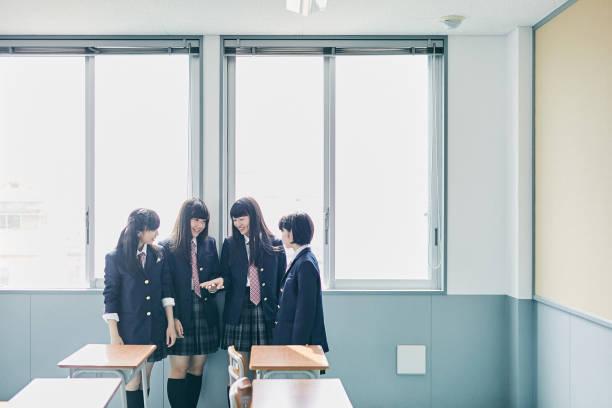 日本での学校生活 - 中学校 ストックフォトと画像