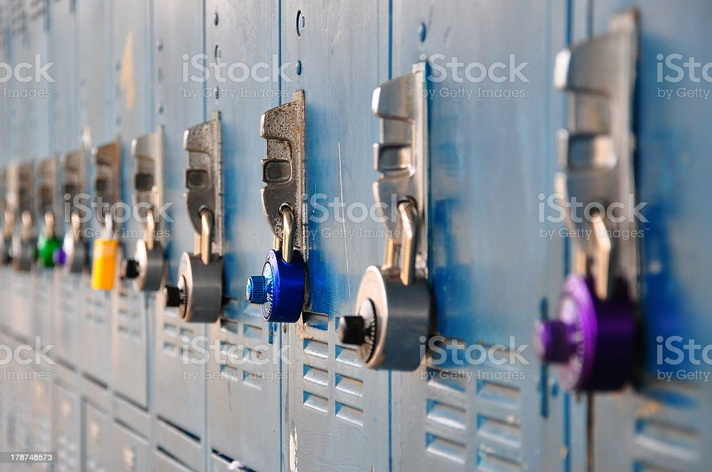 School lockers stock photo