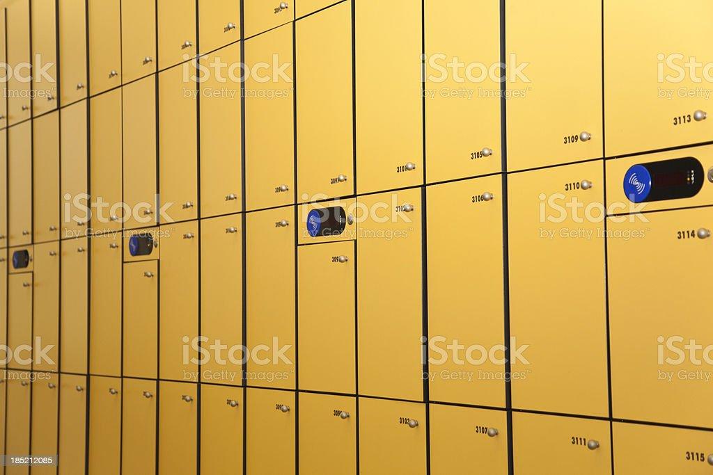school lockers royalty-free stock photo