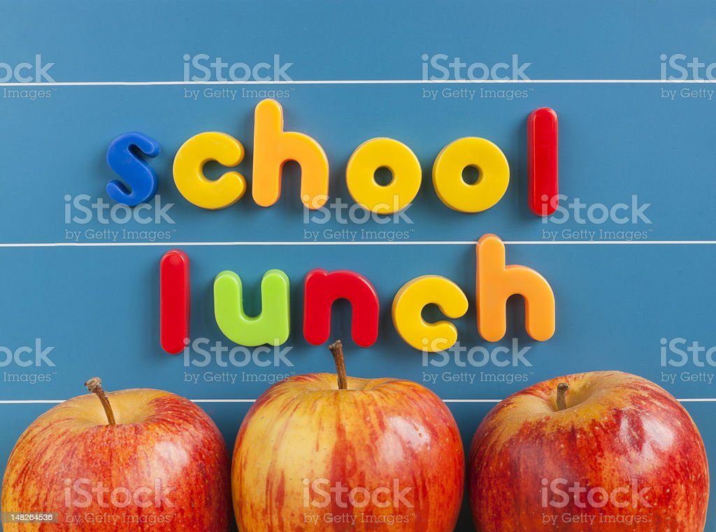 School lunch concept stock photo