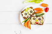 istock School lunch for kids. Top view, flat lay 580112356