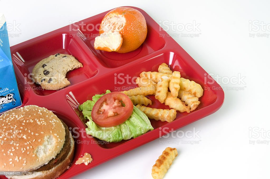 School Lunch-Picky Eater stock photo
