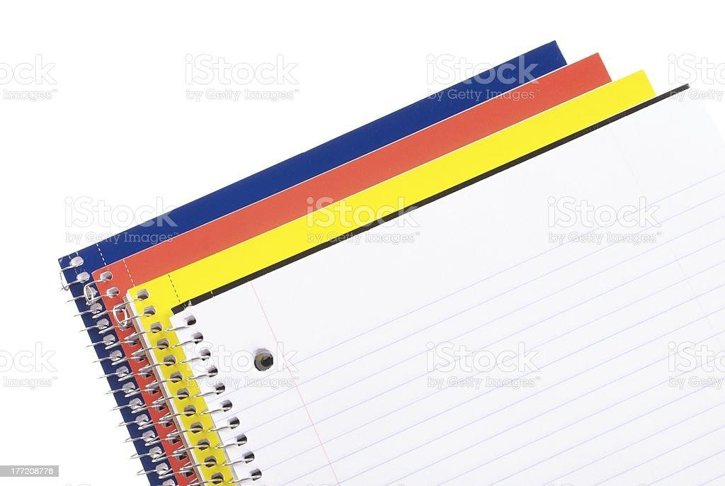 School Notebooks royalty-free stock photo
