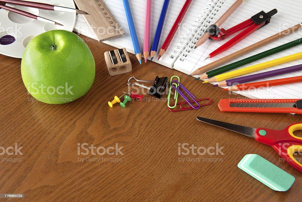 School objects royalty-free stock photo