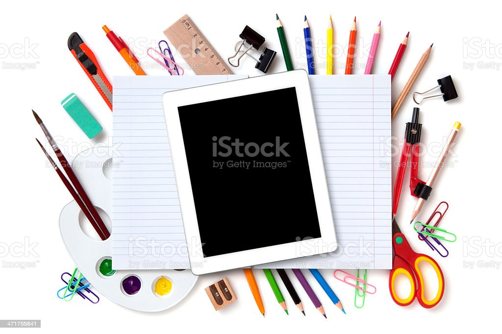School objects royalty-free stock photo