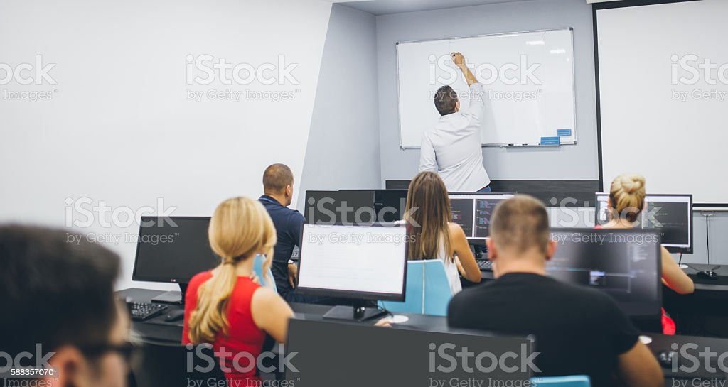School of computers stock photo