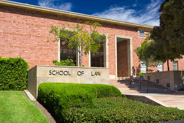 UCLA School of Law on the campus of UCLA. Los Angeles, United States - October 4, 2014: UCLA School of Law on the campus of UCLA. UCLA is a public research university located in the Westwood neighborhood of Los Angeles, California, United States. ucla medical center stock pictures, royalty-free photos & images