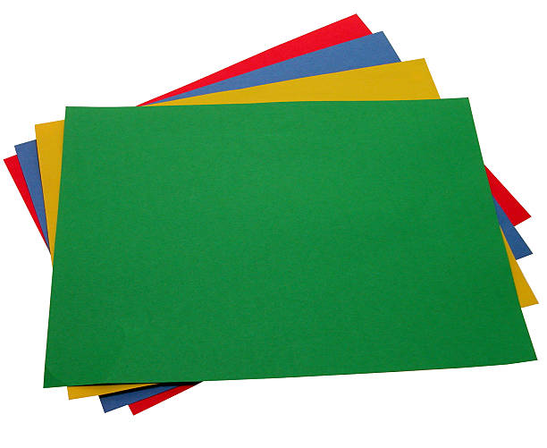 School & Office: Stack of Construction Paper  ecole stock pictures, royalty-free photos & images