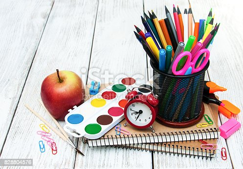 istock School office supplies 828804576