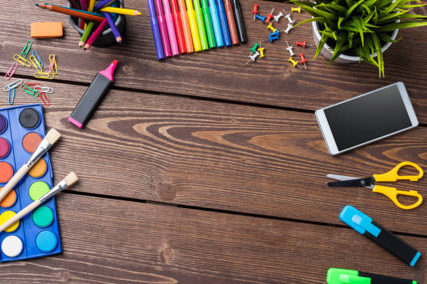 School or art background with copyspace stock photo