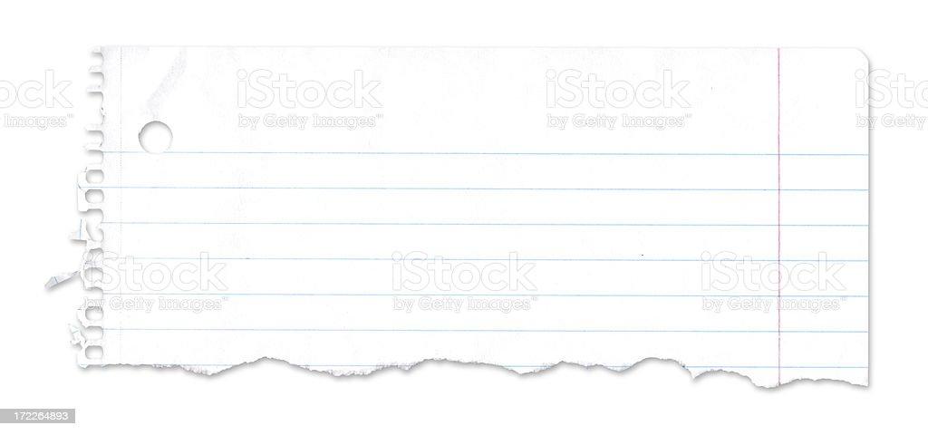 School paper tear - w/drop shadow royalty-free stock photo