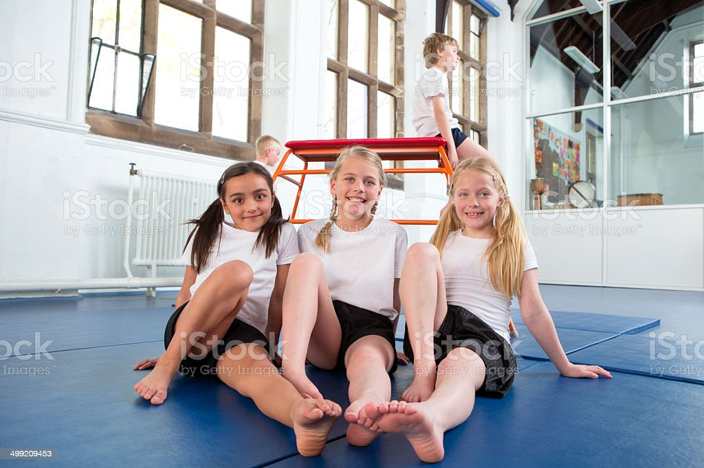 School Physical Education Lesson stock photo