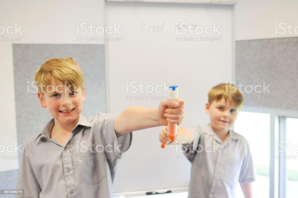 School Presentation Anaphylaxis stock photo