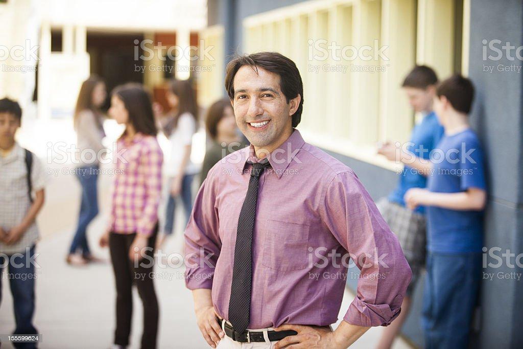 School Principal on Campus royalty-free stock photo