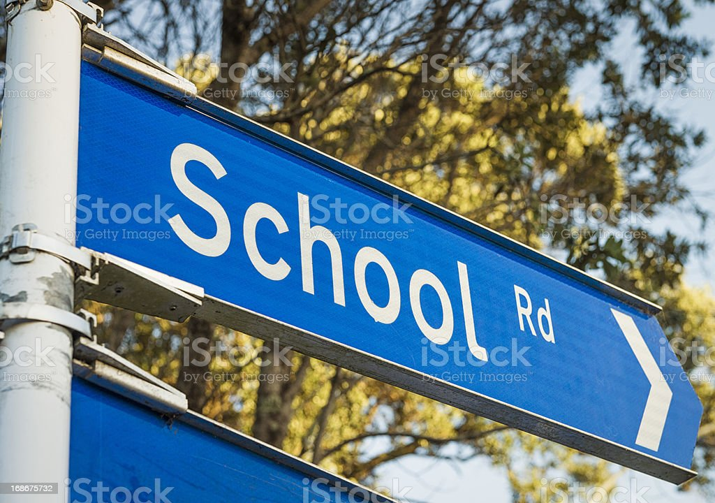 School Road Sign royalty-free stock photo