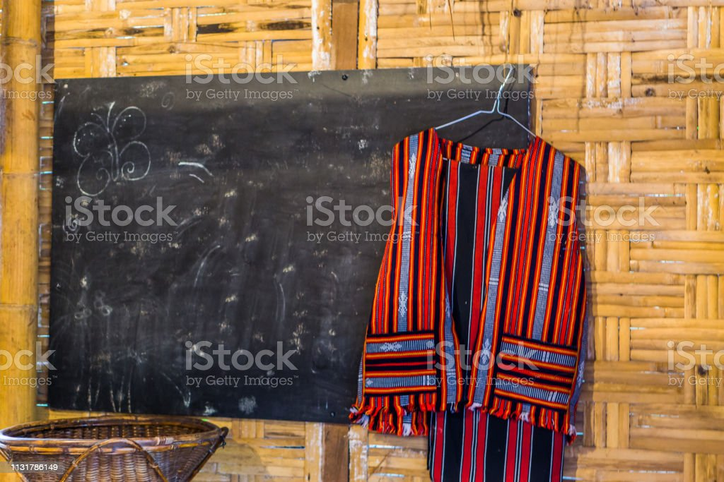 School room in african style, interior of a african class room, black...