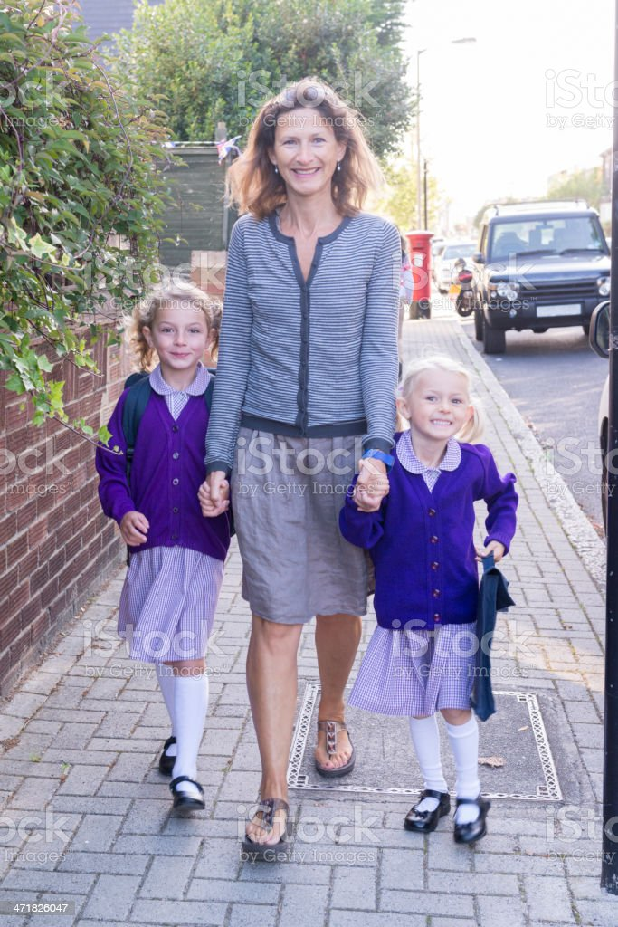 School Run royalty-free stock photo