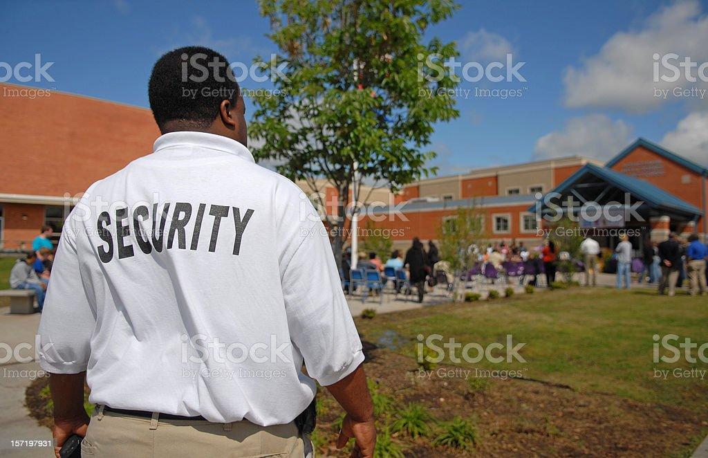 School Security Guard stock photo