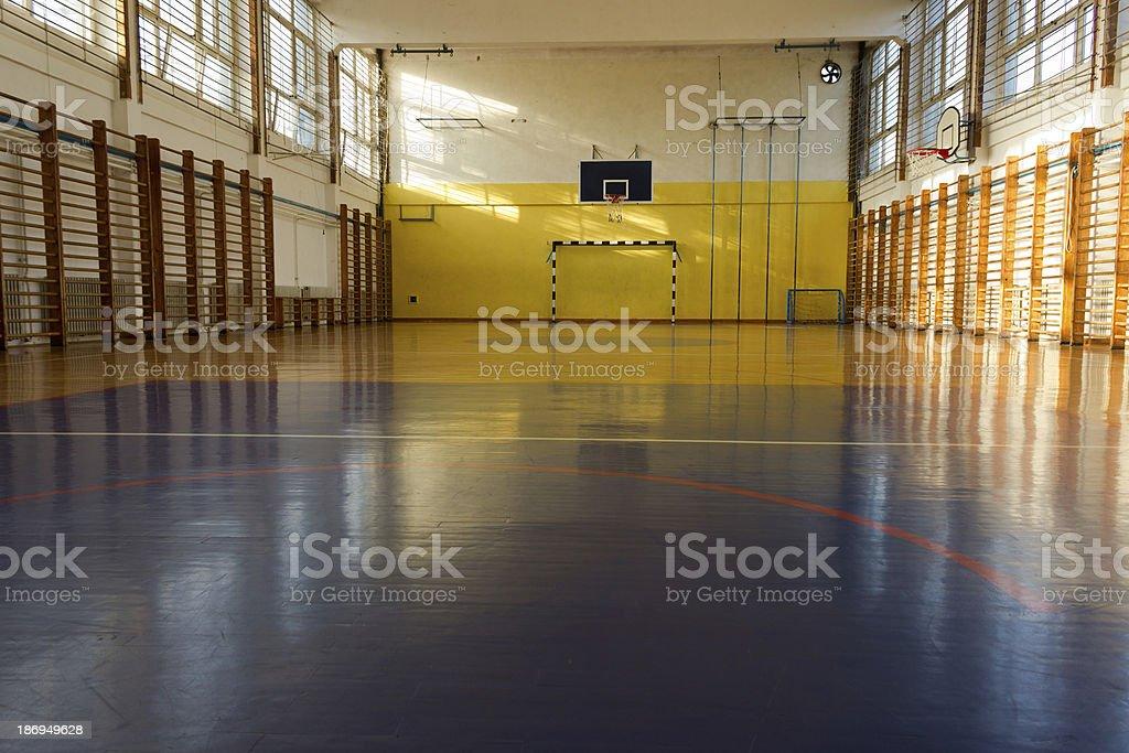 School sport training hall stock photo