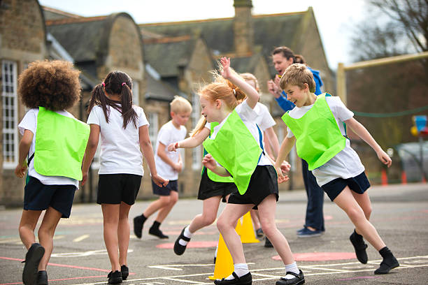 School Sports Lesson stock photo
