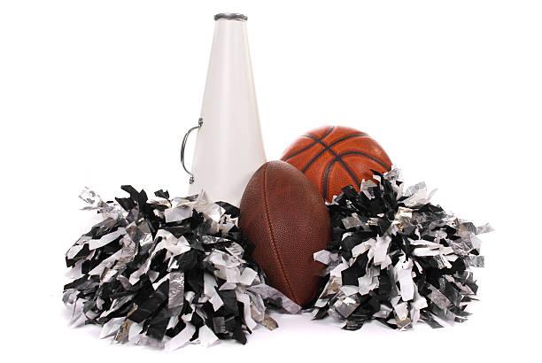 school sports - pompon stockfoto's en -beelden
