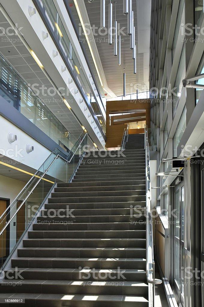 School Staircase stock photo