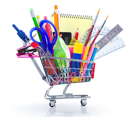 istock school supplies in shopping cart - back to school 483021144