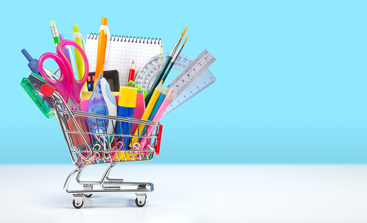 istock school supplies in shopping cart - back to school 483482958