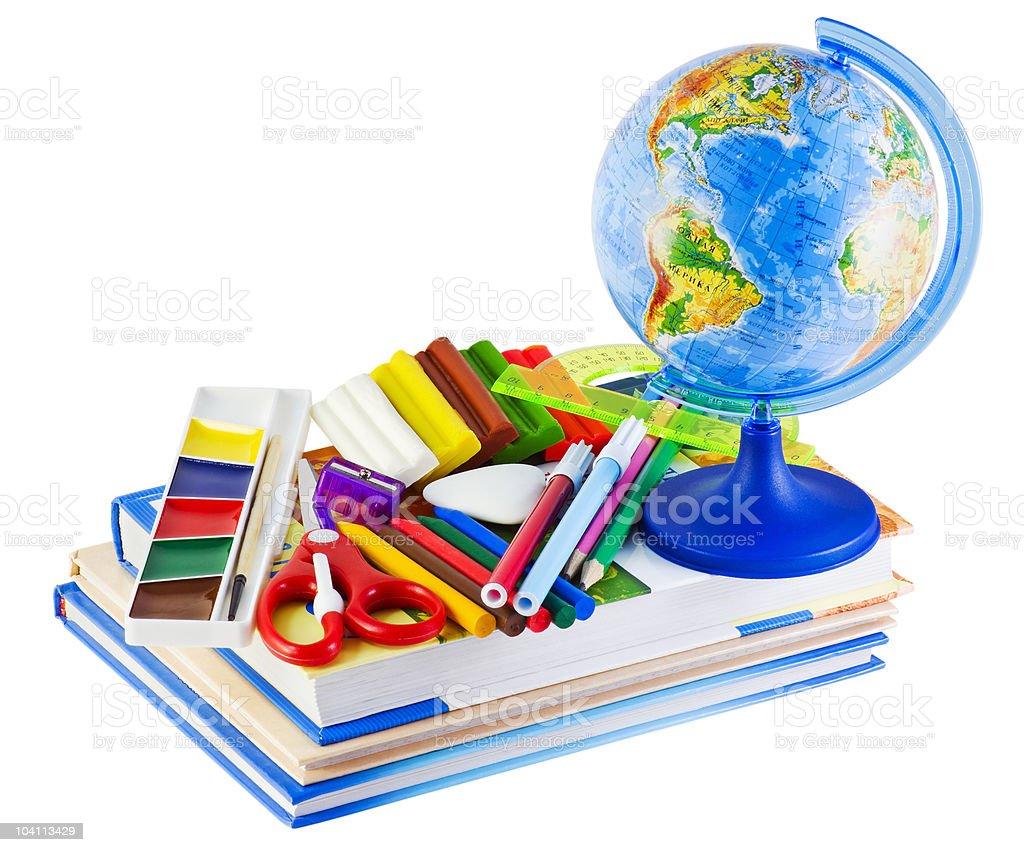 school supplies royalty-free stock photo