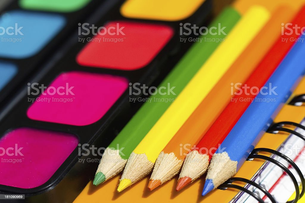 School supplies royalty-free stock photo