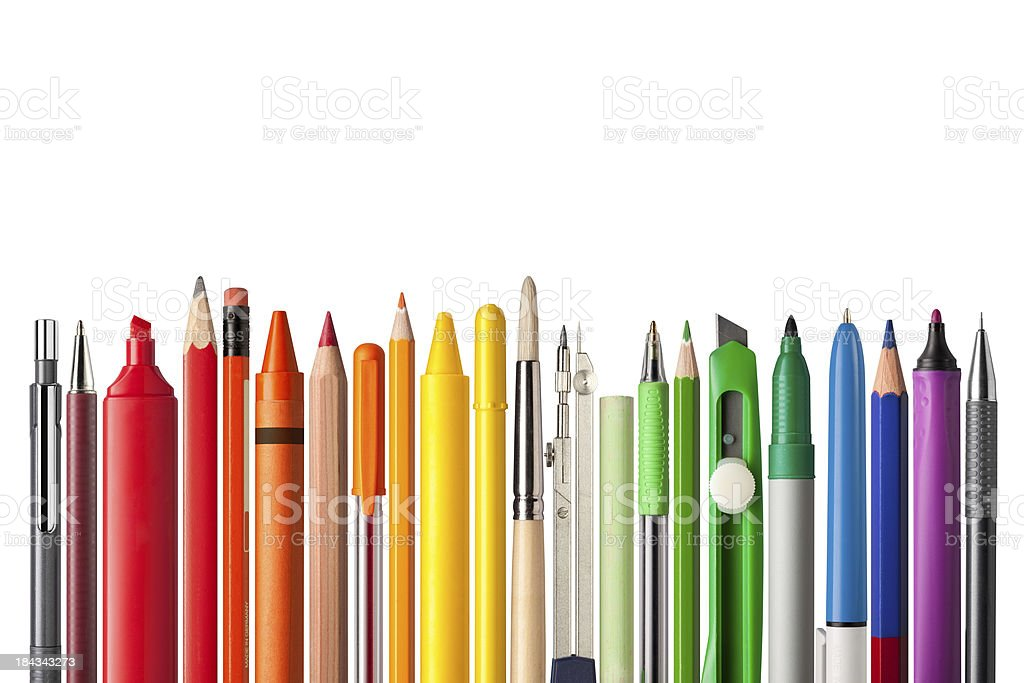 School supplies. stock photo
