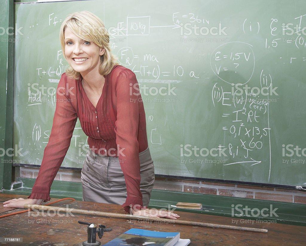 A school teacher royalty-free stock photo