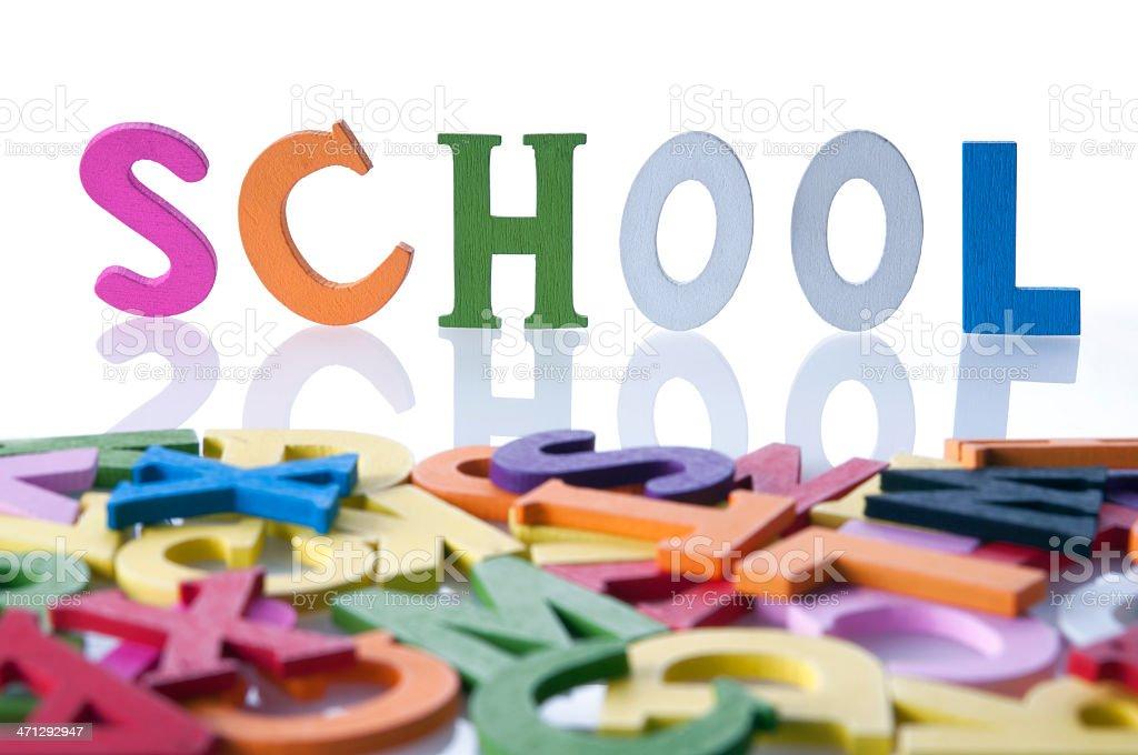 school text royalty-free stock photo