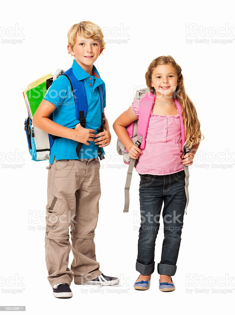 School Time - Isolated stock photo