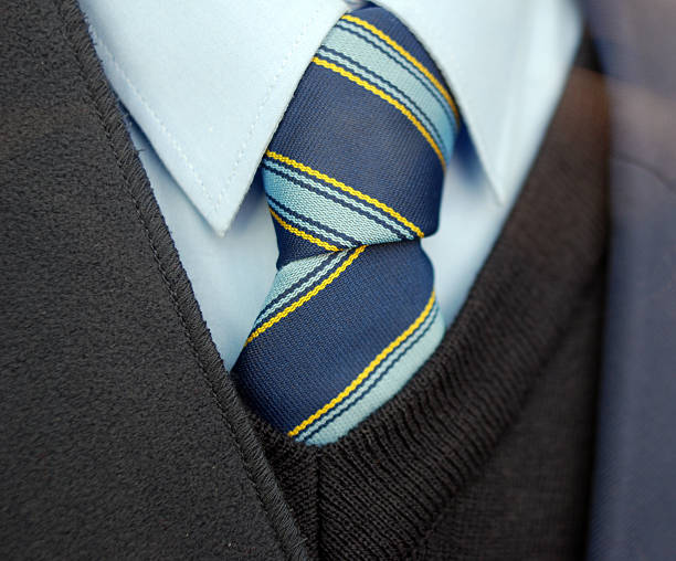UK School uniform tie stock photo