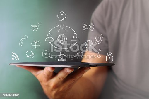 istock School use the Tablet and a world of services 486803862